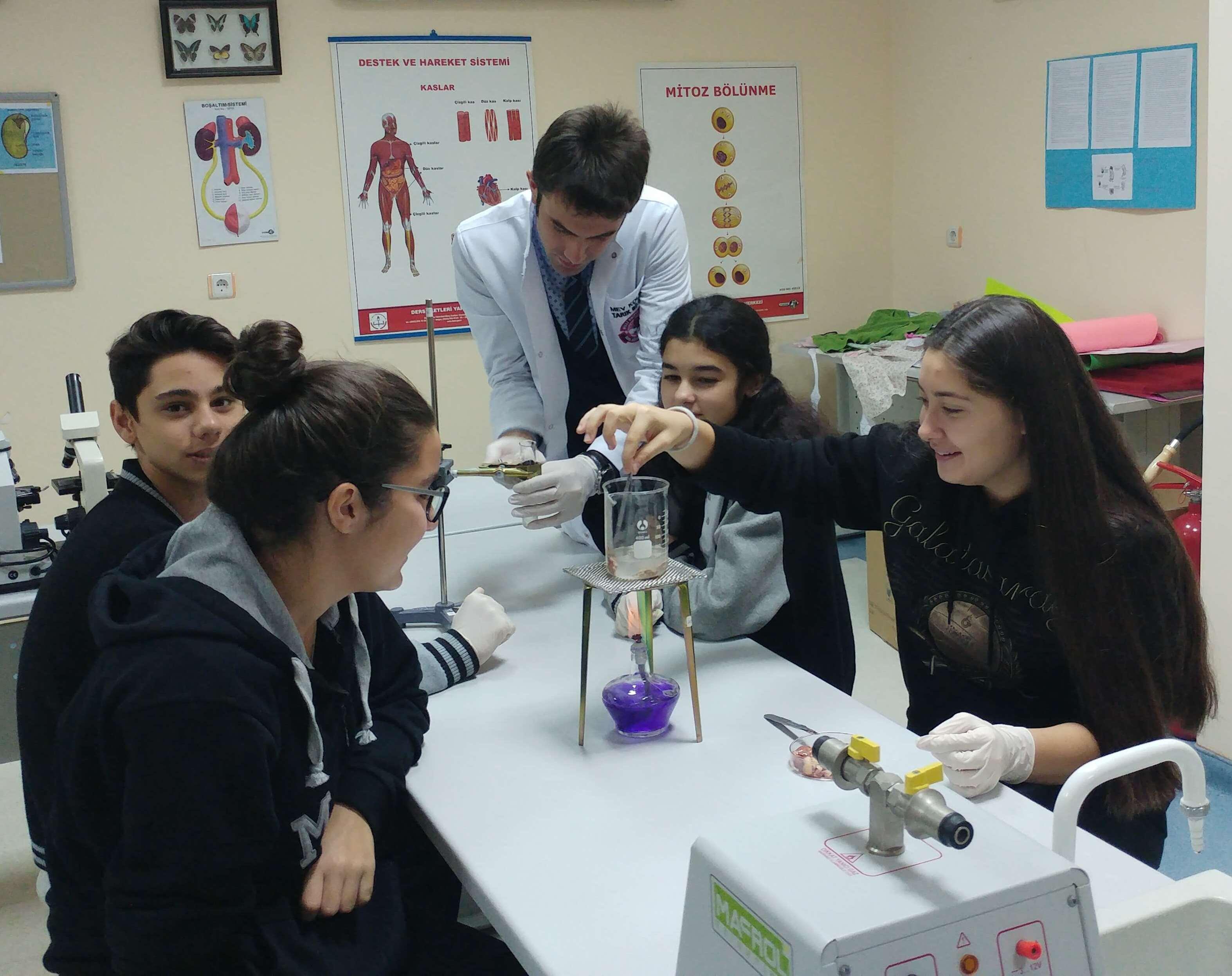 9-A Sınıfı Öğrencilerimiz Sıcaklığın Enzimler Üzerindeki Etkisini Gözlemlediler