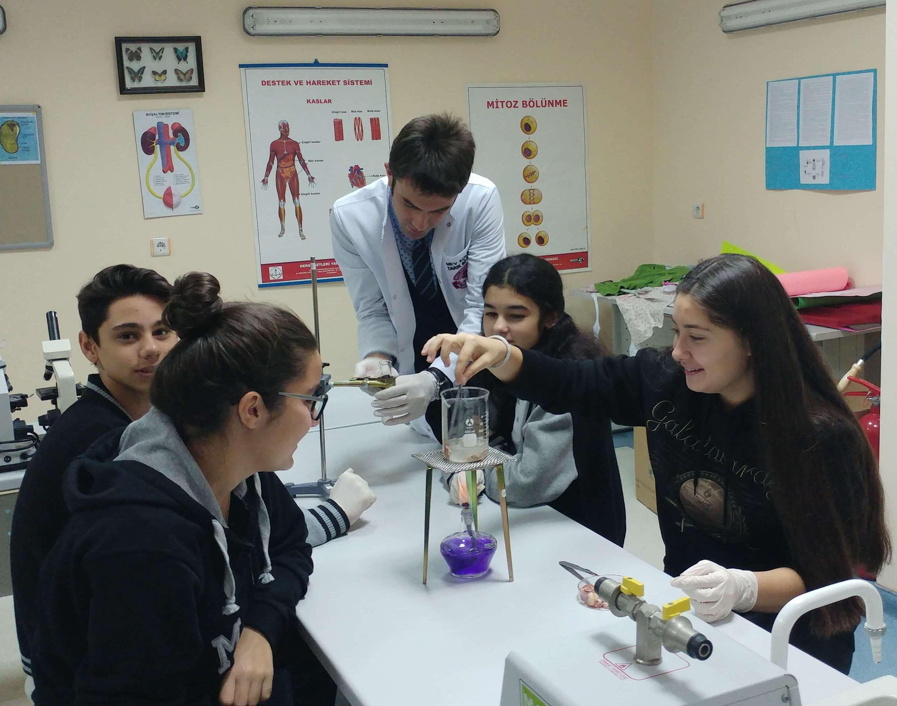 9. Sınıf Öğrencilerimiz Sıcaklığın Enzimler Üzerindeki Etkisini İncelediler