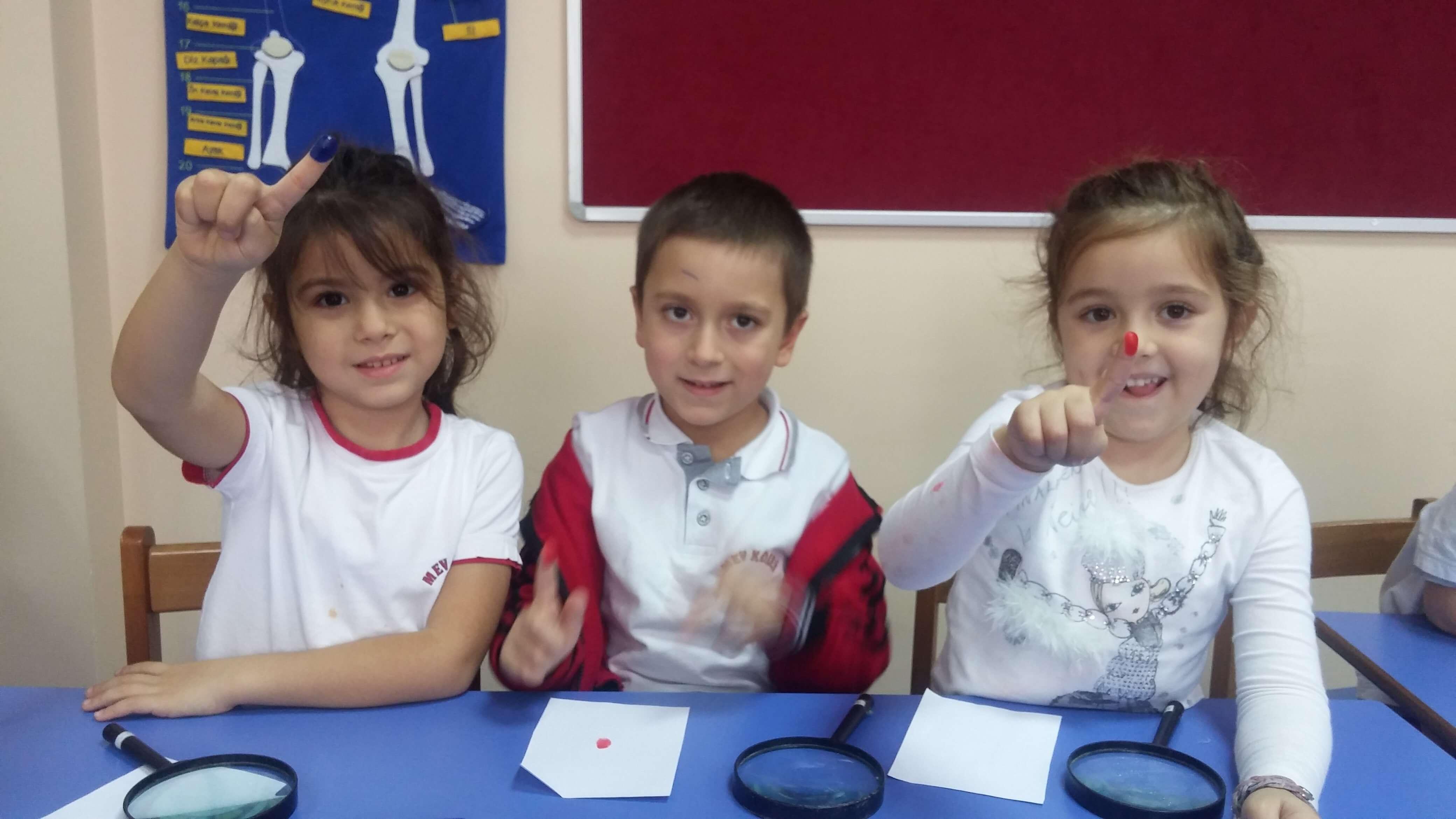 Ana Sınıfı Öğrencilerimiz Herkesin Parmak İzinin Farklı Olduğunu Gözlemlediler
